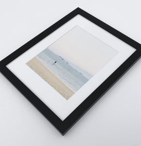 A photo print of a seashore