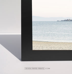 A corner of a black frame