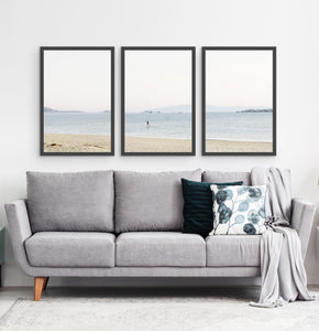 Three photo prints of a seashore 3