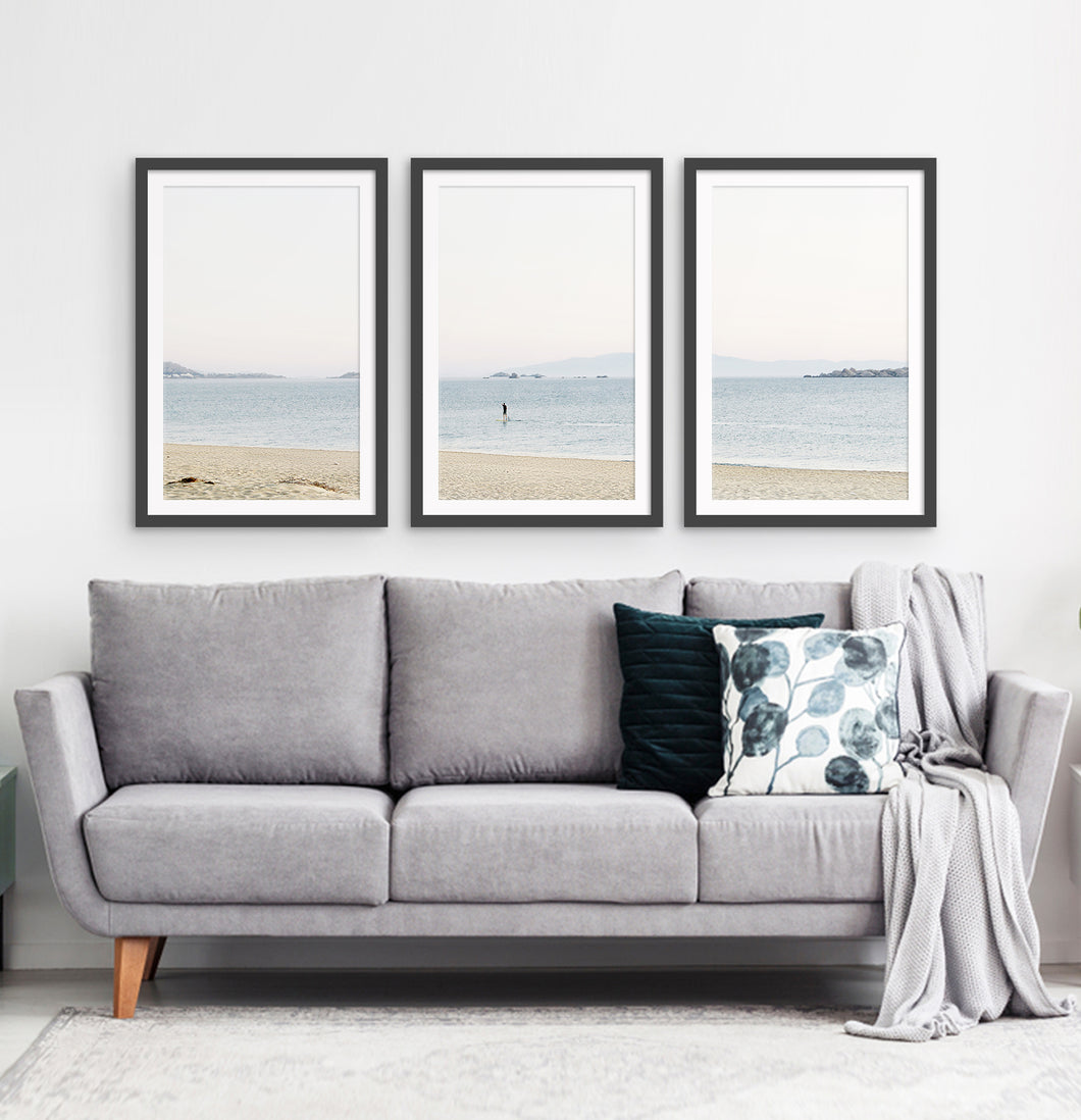 Three photo prints of a seashore 1