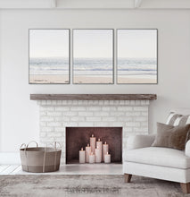 Load image into Gallery viewer, Coastal Triptych Above the Fireplace