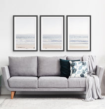 Load image into Gallery viewer, Three framed photo prints of an ocean coast