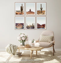 Load image into Gallery viewer, Desert Landscape Set of 6 Wall Art
