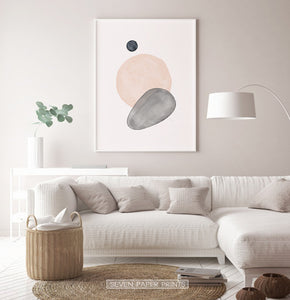 Earth Color Living Room Wall Art