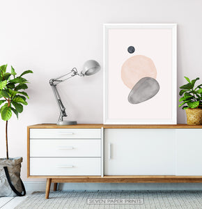 Mid Century Modern Art | Earth Color Shapes