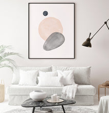 Load image into Gallery viewer, Mid Century Modern Art | Earth Color Shapes