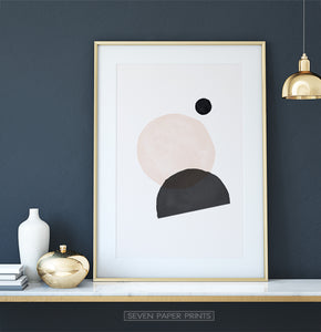 Extra Large Earth Color Abstract Shapes