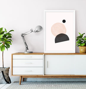 Abstract Minimal Print in Earth Colors | Boho Art