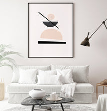 Load image into Gallery viewer, Desert Color Geometric Neutral Art Print
