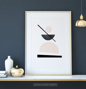 Desert Color Geometric Neutral Art Print
