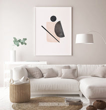 Load image into Gallery viewer, Abstract Shapes, Beige Boho Decor