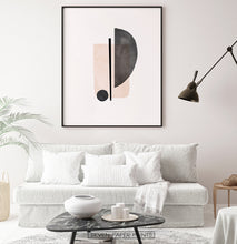 Load image into Gallery viewer, Large Watercolor Print for Sofa