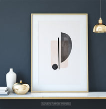 Load image into Gallery viewer, Abstract Minimalist Print, Neutral Soft Wall Art