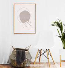 Load image into Gallery viewer, Modern Mid Century Art, Minimal Boho Decor