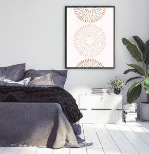 Boho Wall Art Decor, Radial Art