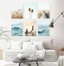 Load image into Gallery viewer, Ocean Wall Decor Above White Sofa Idea