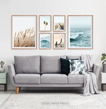 Load image into Gallery viewer, Coastal Gallery Wall for Minimalist Living Room Space