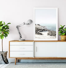 Load image into Gallery viewer, Aqua Beach Print with Shoreline View