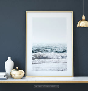 Beautiful Sea Wave Print for Dressing Table. Decor Ideas