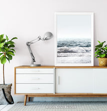 Load image into Gallery viewer, Sea Waves Print on the table with drawers
