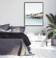 Load image into Gallery viewer, Bedroom Wall Art. Blue Sea and Rocks