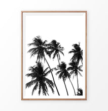 Load image into Gallery viewer, Palm trees wall print, tropical palms wall decor
