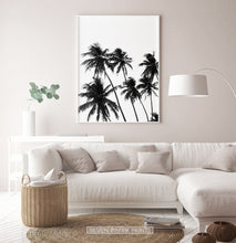 Load image into Gallery viewer, Black and White Tropical Palm Wall Decor