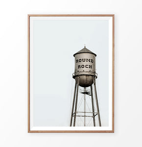 Round Rock Water Tower Print
