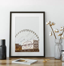 Load image into Gallery viewer, Texas Star Ferris Wheel Wall Art
