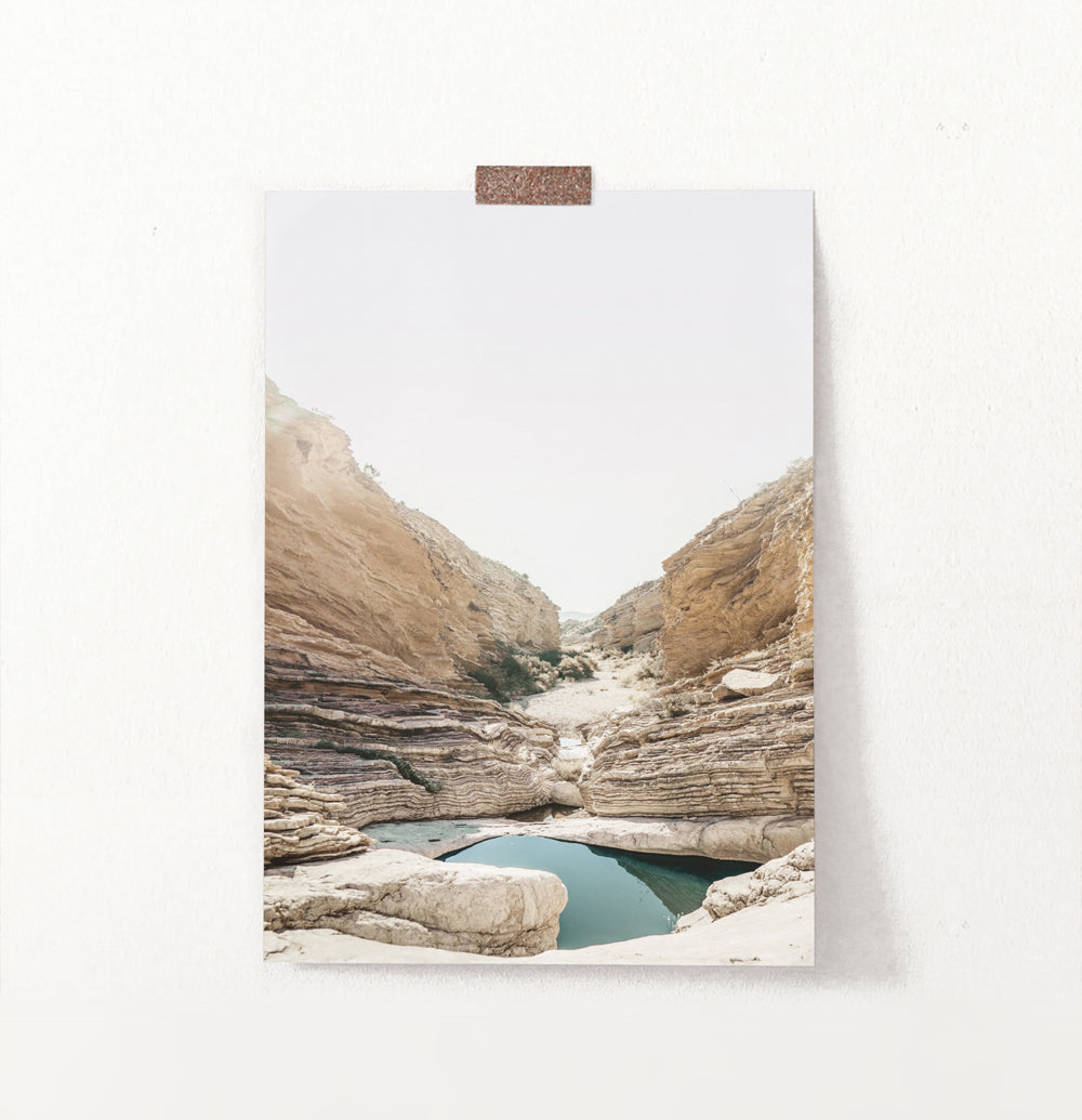 Canyon with Lake Wall Art
