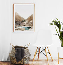 Load image into Gallery viewer, Canyon with Lake Wall Art