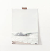Load image into Gallery viewer, Large Sea Wave Surfing Print