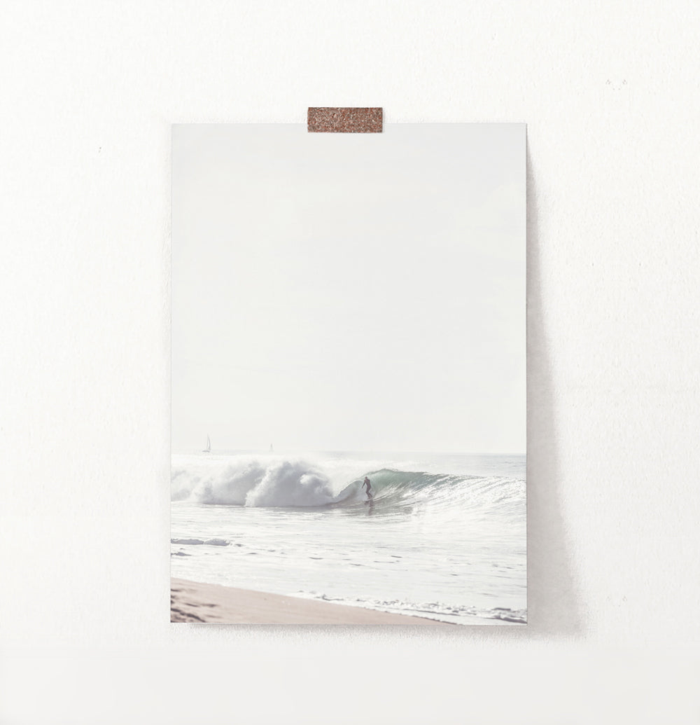 Large Sea Wave Surfing Print