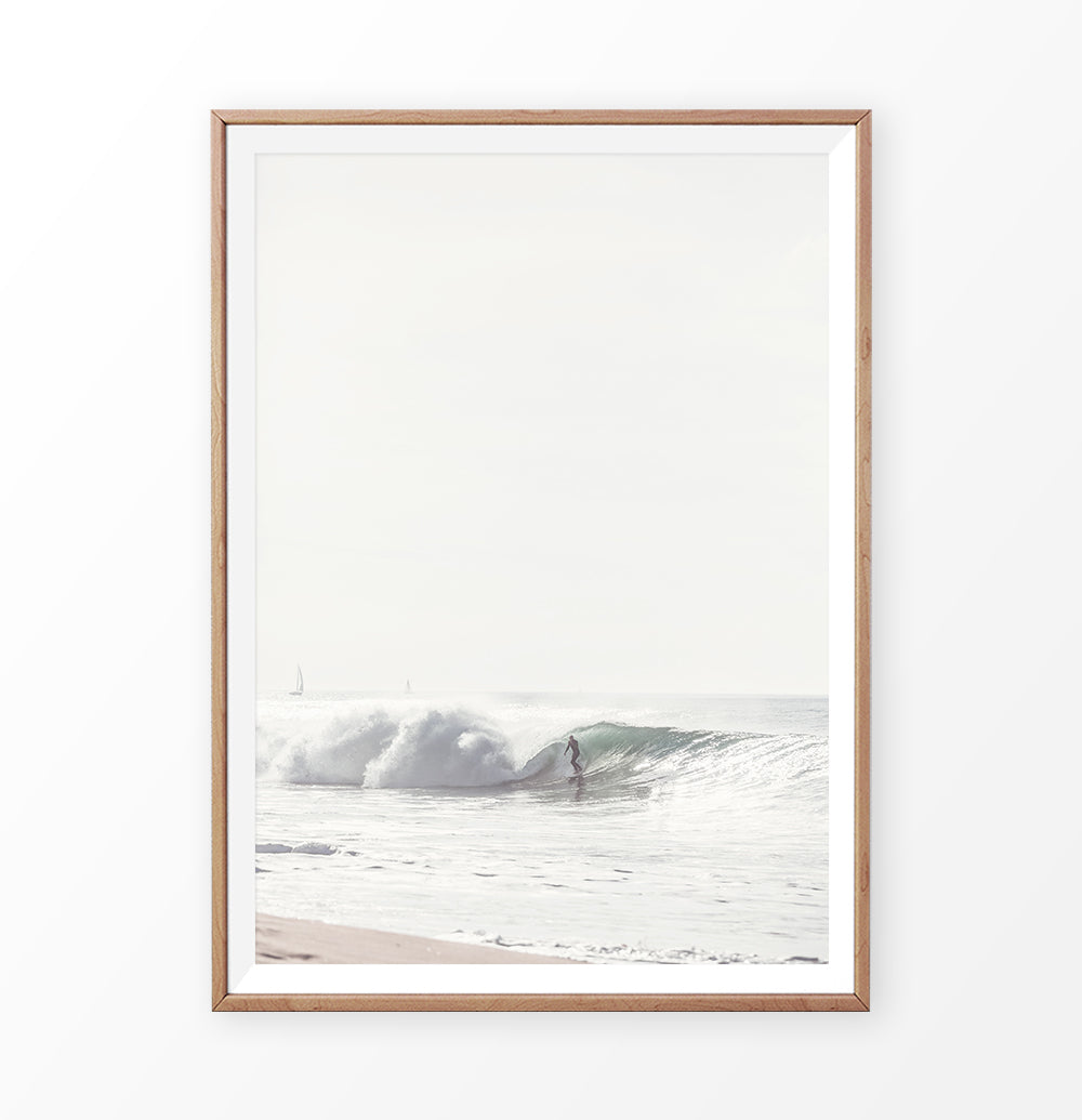 Surfing wall decor, big ocean wave print