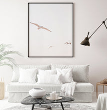 Load image into Gallery viewer, Seagulls on Sunset Living Room Poster