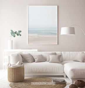 Beige Coastal Wall Art for Living Room