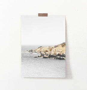 Ocean Rock Retro Photography Print
