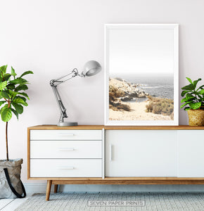 California Beach Ocean Landscape Wall Art