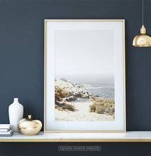 Load image into Gallery viewer, Beautiful Beach with Rocks and Gray Sea Water