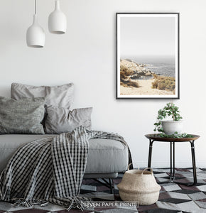 Wild Coastal Nature Wall Art Print for Living Room Idea