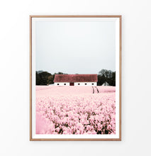 Load image into Gallery viewer, Pink flowers wall art, Toscana Hills landscape