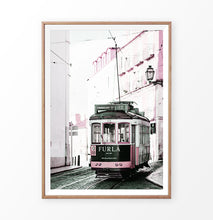 Load image into Gallery viewer, Pink Furla Tram Lisbon Portugal