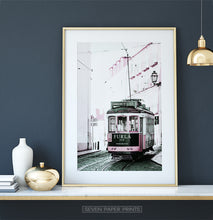 Load image into Gallery viewer, Pink Furla Tram Poster