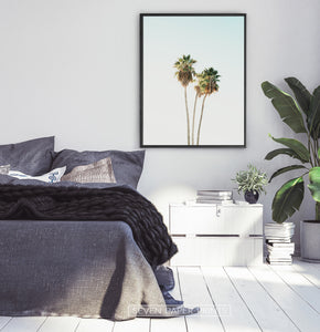 California Palm Trees Wall Art for Bedroom Decor