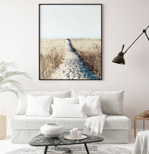 Load image into Gallery viewer, Beach Path Wall Art Print Above the Sofa