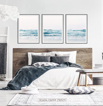 Load image into Gallery viewer, Bedroom Wall Art Decor - Set of 3 sea wave prints