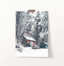 Load image into Gallery viewer, Wonderful Wooden Shack in the Winter Forest Wall Art