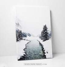 Load image into Gallery viewer, Winter Valley Transparent River Canvas Print