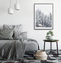 Load image into Gallery viewer, Black-framed in a gray&white bedroom