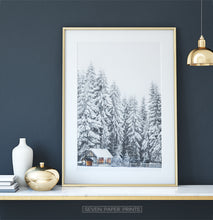 Load image into Gallery viewer, Gold-framed on white marble shelf